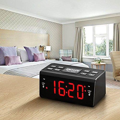 Radiowecker HoLife FM/AM Uhrenradio Digitales Uhren-Radio LED Wecker LED-Display Dual-Wecker mit Schlummerfunktion Schwarz - 8