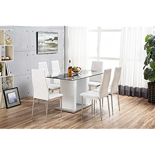 High Gloss Kitchen Table And Chairs High gloss dining table and chairs set amazon workwithnaturefo