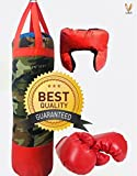 #7: Sports Kid's Boxing Set kit By Cora,Kids boxing set (Punching Bag, Gloves & Headgear) set of 3,For both male and female