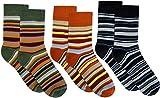 3 Paar Sehr warme Kinder Thermo Kniestrümpfe mit Ringel Design Farbe Jungen/Ringel/Socken Größe 39-42