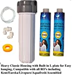 #4: PSI RO Pre - Filter Housing Set for Threaded Type Aquaguard Compatible Model Filters with 2 Filter Candles
