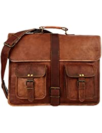 100% Genuine Leather Laptop Bag For Men/Office Briefcase For Men/Designer Leather Briefcase/Hand Made And Hand... - B0791K5B8M
