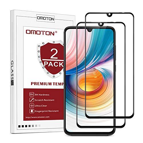 OMOTON Protector Pantalla para Xiaomi Mi 9 Cristal Templado Xiaomi Mi 9, Tecnología 3D, Borde Negro, Cobertura 99% de la Pantalla, Definición HD, Sin Despegamiento [2 Piezas]