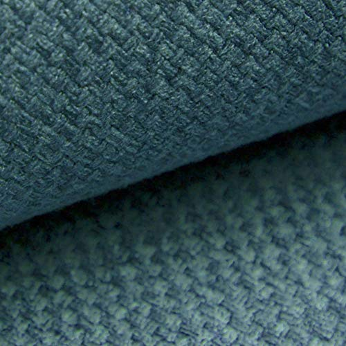 NOVELY® GRANA melierter Webstoff | Möbelstoff | leicht grob gewebt | Oxfordbindung | STRAPAZIERFÄHIG | ELEGANT (16 Türkis Petrol Blau) -