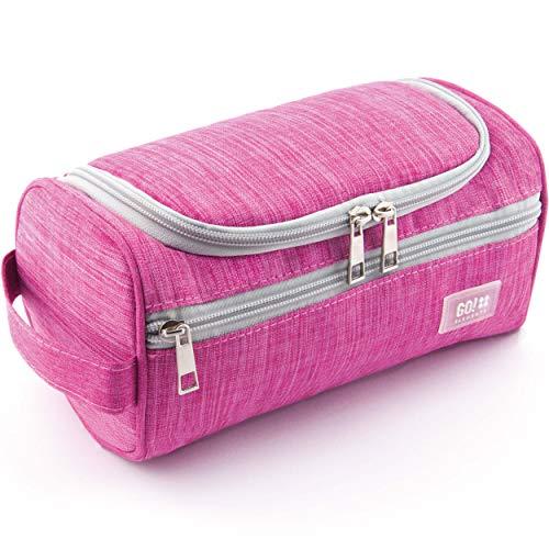 GO!elements Beauty Case uomo & donna | borsa da toilette per uomini & donne appesi | borsa cosmetica uomo donna per valigie & bagaglio a mano | borsa da viaggio per lavaggio, Color:Rosa