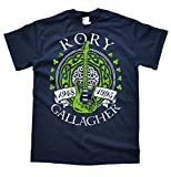 Rory Gallagher Dunkelblau T-Shirt, Größe XL