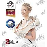 Donnerberg ORIGINAL NM089 beige- Nacken und Schulter Shiatsu Massagegerät mit Infrarotwärmefunktion TÜV-Zertifikat