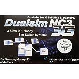 2-phones-in-1 2in1-nc3s4 NC3 Dual/Triple Sim Adapter für Samsung Galaxy S4 preiswert