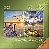 Wellness & Entspannung (Vol. 1 & 2) - Gemafreie Meditationsmusik (2 CDs); Einschlafhilfe & Tiefenentspannung