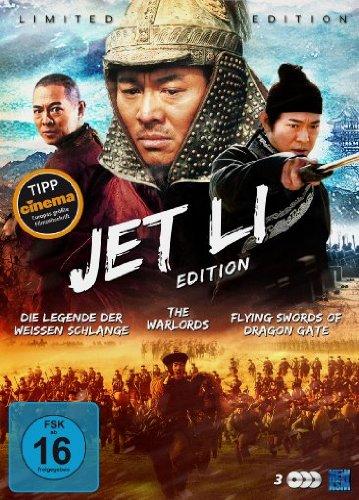 Preisvergleich Produktbild Jet Li Edition (Die Legende der Weißen Schlange / The Warlords / Flying Swords of Dragon Gate) [3 DVDs] [Collector's Edition]