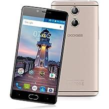 "Doogee Shoot 1 - 4G Smartphone Libre Android 6.0 (Pantalla FHD 5.5"", 1.5GHz MT6737T Quad Core, 2GB RAM 16GB ROM, Dual Cámara 13.0MP+8.0MP, Touch ID, OTA, Carga Rápida, Dual SIM) (Dorado)"