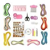 Glory100 Papier Quilling Set mit 36 Farben Quilling Papier und Quilling Werkzeug, 20 Stück