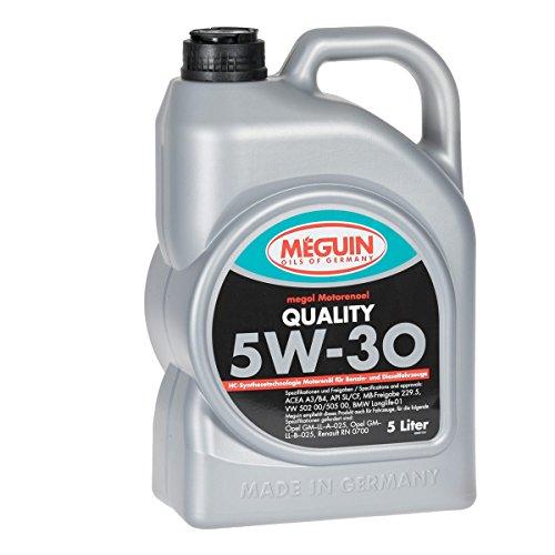 5W-30 Meguin Quality / megol - Longlife Motoröl für Diesel und Benziner - Made in Germany - 5 Liter