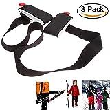Ski Tragegurt, 3 Pcs einstellbar Nylon Ski Schultergurt, Ski Haltegurt für Snowboard (3 Pcs)