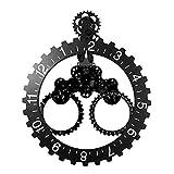 WYZQ Horloge Murale, Triangle Big Pendaison Pendule Salon Salon Accueil Simple Horloge Mécanique Européenne Réveil Silencieux Noir