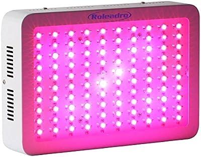 Roleadro Grow Led Cultivo Espectro Completo 300W Lampara para Plantas Led de Crecimiento Interrio Hidroponico 60*5W