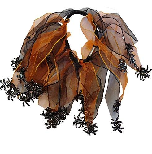 Halloween Araignée Scrunchie (3 Fourni)