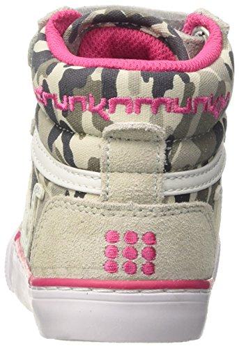 DrunknMunky Mädchen Boston Camu Tennisschuhe Rosa (Grey/Pink)