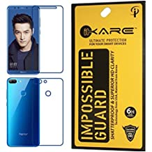 Sajni Creations Ikare Impossible Honor 9 Lite Front and back Tempered Screen Guard , Strong Plastic Fibre Unbreakable Flexible impossible Tempered Screen Guard Protector for Huawei Honor 9 Lite - Transparent (does not cover the edges)