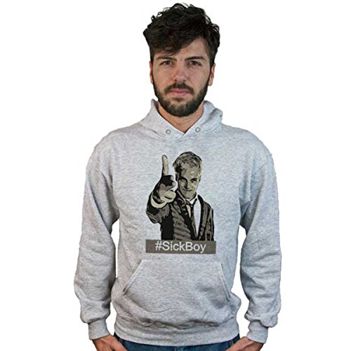 Sweatshirt Trainspotting – neue Helden sick boy, grau Abzugshaube, Kunstwerk Kino, Film, cult movie - Grau Melange, X-Large