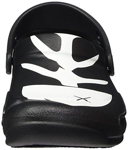 Crocs Unisex-erwachsene Bistro Grafico Zoccolo Schwarz (nero / Bianco / Nero)