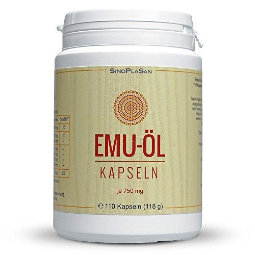 EMU ÖL Kapseln 750mg. 100% naturrein 110 St Kapseln - Emu-Öl