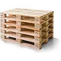 moebel-eins Europalette 5er Set Flachpalette Palette Neuware Holzpalette 120x80 cm Natur