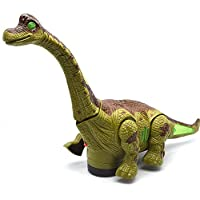 FunBlast Walking /Moving Dinosaur Toy with Flashing Lights and Realistic Dinosaur Sounds Children's Kids Toy - Battery Operated, Available in 2 Colors (Green)