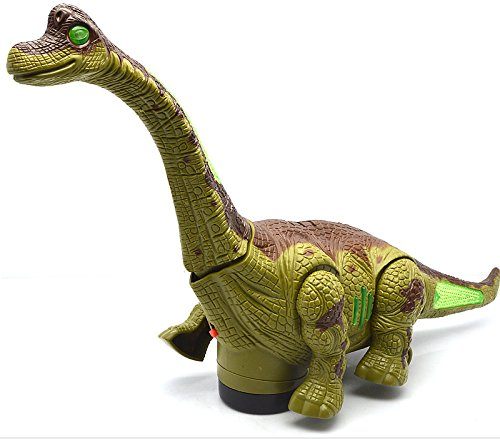 FunBlast Kid\'s Battery Operated Walking, Moving Dinosaur Toy with Flashing Lights and Realistic Dinosaur-Sounds, Available in 2 Colours (Green)