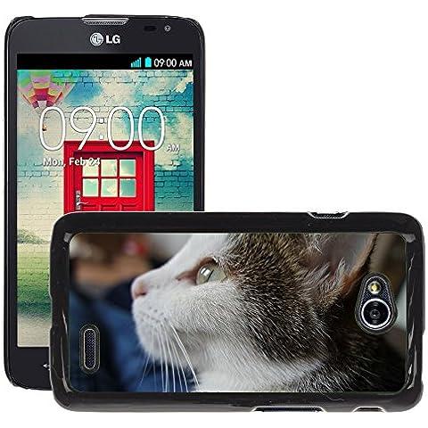 Cas Coq Case Cover // M00149494 Gato Gato Mascota Cara dulce Estimado // LG Optimus L70 MS323