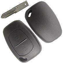 Carcasa Case Funda Llave Control Remoto Mando a Distancia 2 Botones para Coche Renault Kangoo Opel Vivaro Nissan Universal sin logo