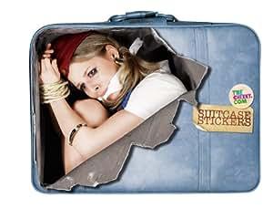 Kofferaufkleber - Entführte Flugbegleiterin Stewardess Geisel