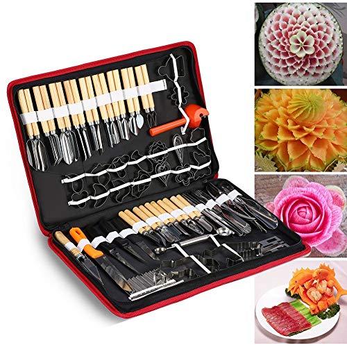 Jadeshay 1 Pack kulinarisches Schnitzwerkzeug, Obst-Gemüse-Garnierung Schneideschneidwerkzeuge, 80 Stück