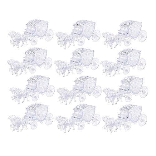Fenteer 12x Kutsche Form Kristall Muster Schmuckkästchen Aufbewahrungsbox aus Kunststoff -