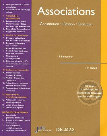 Associations : Constitution - Gestion - Evolution