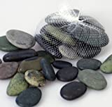 Flusskiesel grau/braun Granit