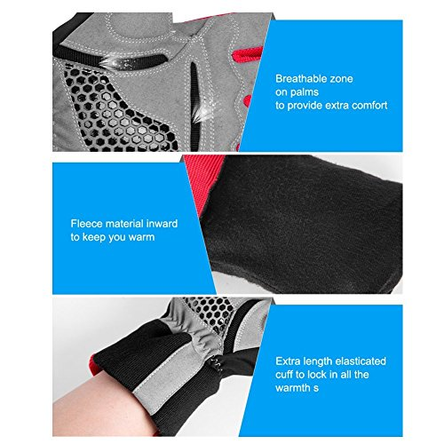 4Ucycling Warm Thermo Fleece Gloves Touchscreen Touch Fahrrad Handschuhe Radsport Handschuh Radhandschuhe - 7