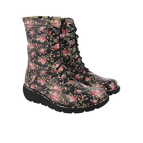 Heavenly Feet Walker2 Boots Floral Schwarz Floral Schwarz