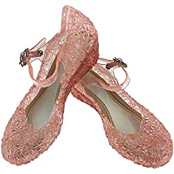Little-Peach L-Peach Sandalias de Princesa Para Ninas Disfraz Para Halloween Fiesta Cumpleanos Navidad, Rosa, EU27/CN29 17cm