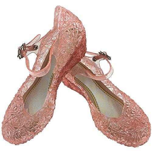 Little-Peach L-Peach Sandalias de Princesa Para Ninas Disfraz Para Halloween Fiesta Cumpleanos Navidad, Rosa, EU31/CN33 19cm