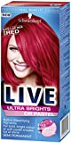 Schwarzkopf Live Ultra Bright or Pastel Colouration, Pillar Box Red Number 092 - Pack of 3