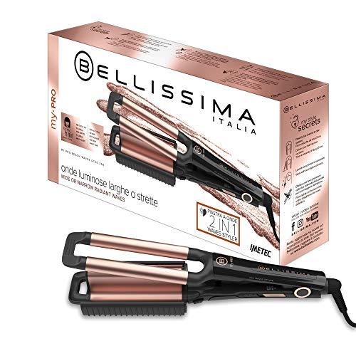 Imetec Bellissima My Pro Beach Waves GT20 300 - Plancha para el pelo con revestimiento de cerámica...