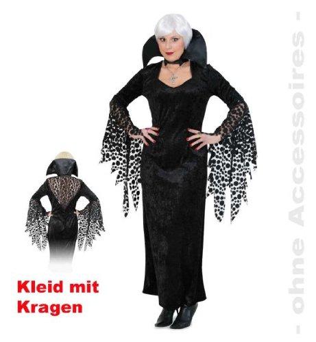 Kleid Kiria mit Stehkragen Damenkostüm Halloween Vamp Gr. 44