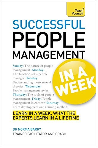 Successful People Management in a Week: Teach Yourself by Dr Norma Barry (29-Mar-2013) Paperback