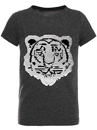 BEZLIT T-Shirt Jungen Wende-Pailletten Tieger Motiv 22719 Anthrazit Größe 152