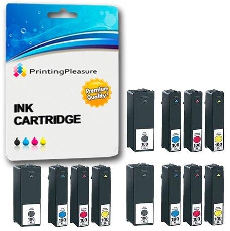 12 XL Druckerpatronen für Lexmark Impact S300, S301, S302, S305, S308 / Interact S601, S602, S605, S606, S608 / Interpret S402, S405, S408, S409 / Intuition S502, S505, S508 / Genesis S815, S816 / Prospect Pro 202, Pro 205, Pro 208, Pro 209 / Prevail Pro 701, Pro 702, Pro 703, Pro 705, Pro 706 / Prestige Pro 803, Pro 805, Pro 808 / Pinnacle Pro 901 / Platinum Pro 902, Pro 903, Pro 904, Pro 905, Pro 909 | kompatibel zu Lexmark 100XL / 105XL / 108XL (Oem-kompatibel-tinte)