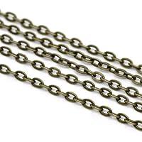 10M Bronce Colores Cadena Eslabones 3x 2mm joyas cadena