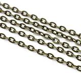SiAura Material 10m Bronzefarben Gliederkette 3x2mm Schmuckkette