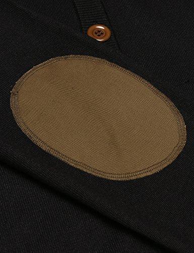 Unibelle Herren Strickjacke Cardigan Pullover Feinstrick Mit Schalkragen Schwarz