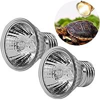 Filfeel Lámpara del acuario de la bombilla de la calefacción 3pcs para el transmisor de calor del reptil del animal doméstico para las tortugas 25W + 50W + 75W